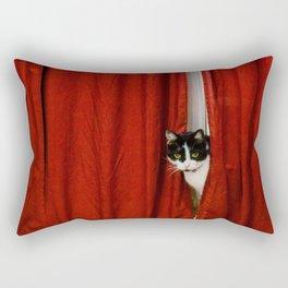 Peek-A-Boo Tuxedo Kitty Rectangular Pillow