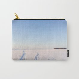 Footsteps in Snow on Lake Ice Carry-All Pouch