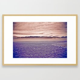 Frozen Mirror Lake Framed Art Print