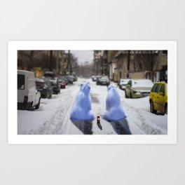 The bears are in town Art Print