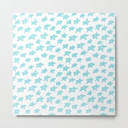Stars mint on white background, hand painted Metal Print