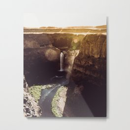 Desert Waterfall Metal Print