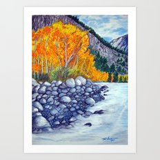Along the lake.. Art Print