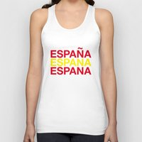 spain Tank Tops featuring SPAIN by eyesblau