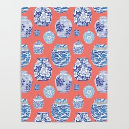 Chinoiserie Ginger Jar Collection No.4 Poster