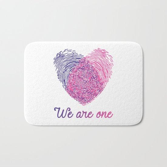 We are one - Valentine love Bath Mat