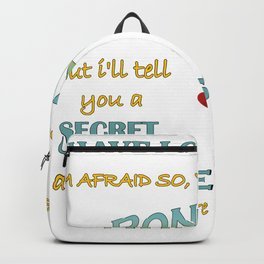 Alice In Wonderland Quote - You're Entirely Bonkers Backpack