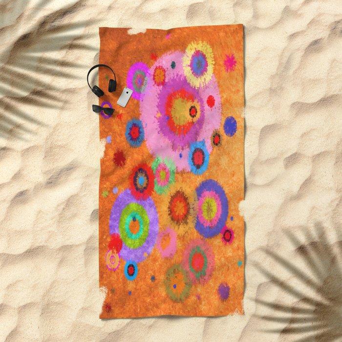 Abstract #427 Splirkles #4 Beach Towel