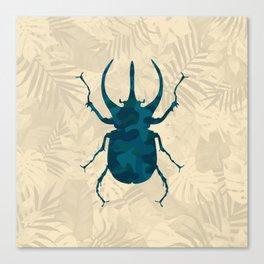 Original Camouflage Pattern Scarab Beetle Canvas Print