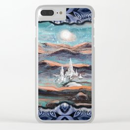 A city shinning under the stars Clear iPhone Case