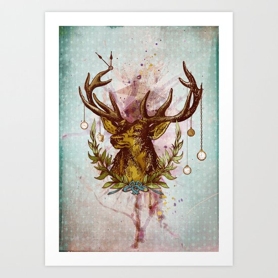 Oh deer, is that the time? Art Print
