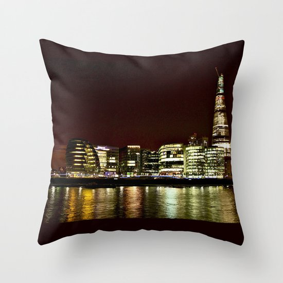 London City Reflections. Throw Pillow