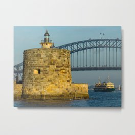 Fort Denison, Sydney Harbour Metal Print