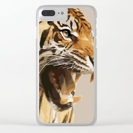 Magnificent Tiger Clear iPhone Case