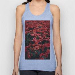 red flora #society6 #decor #buyart Unisex Tank Top