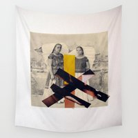 sisters Wall Tapestries featuring Sisters by Mimi Rico