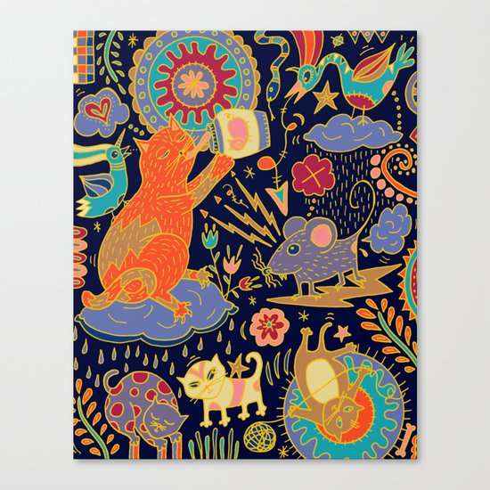 Cat and Mouse Canvas Print