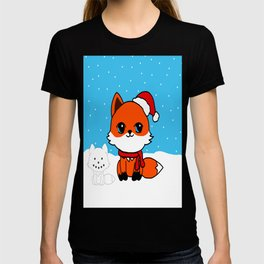 A Fox in the Snow T-shirt