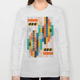 Modern abstract construction Long Sleeve T-shirt