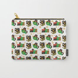 Velvet The Curious Cat - Christmas Carry-All Pouch
