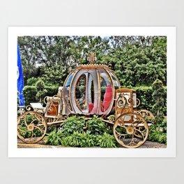 Disney World Cinderella Horse & Carriage Art Print