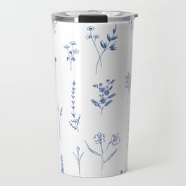 Wildflowers in blue Travel Mug