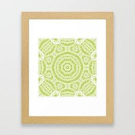 Spring Botanic Mandala Framed Art Print