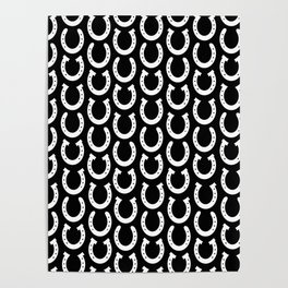 White Horseshoes Poster
