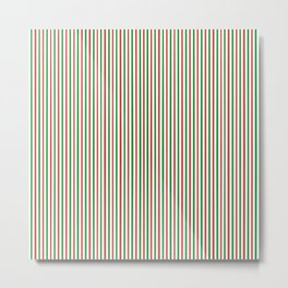 Christmas Time for Stripes Metal Print
