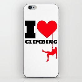 I love Climbing - Funny Climber Gift iPhone Skin