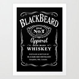 BlackBeard Apparel Whiskey Art Print