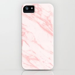pink rose marble iPhone Case