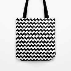 Imperfect Chevron - Black Tote Bag