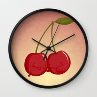 best friends Wall Clocks featuring Best Friends by Lili Batista