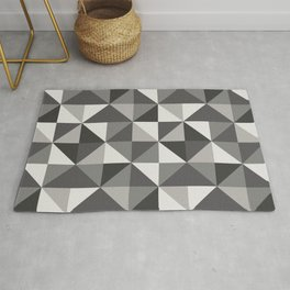 Modern Shades of Grey Rug