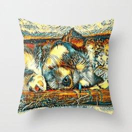 AnimalArt_Dog_20170906_by_JAMColorsSpecial Throw Pillow