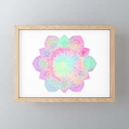 Muted pastel mandala Framed Mini Art Print