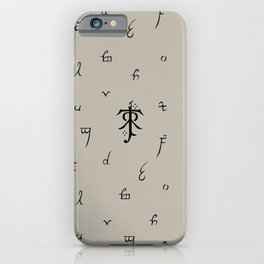 Elvish Letters iPhone Case