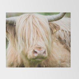 Scruffy Cow Throw Blanket