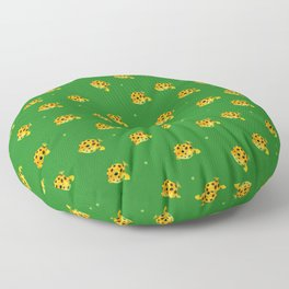 Yellow boxfish Floor Pillow