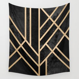 Art Deco Black Wandbehang