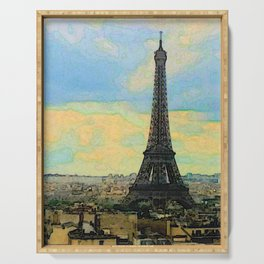 Watercolor Dream of Paris Serving Tray