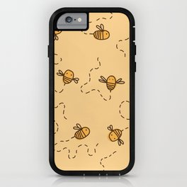 Bee Pattern iPhone Case