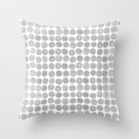 tree rings Throw Pillows featuring Tree Rings by Andrew Stephens