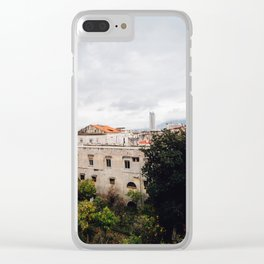 View of Naples with clouds Clear iPhone Case