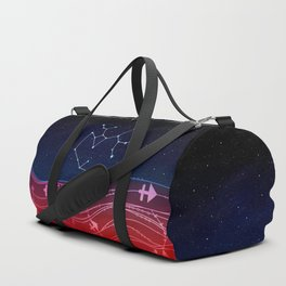 Sagittarius Zodiac Constellation Design Duffle Bag