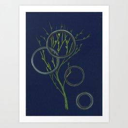 Spring's Rings Art Print