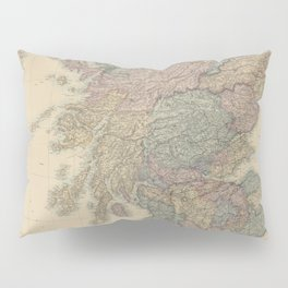Old Map Of Scotland Pillow Sham