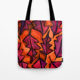 Autumn fire leaves Tote Bag
