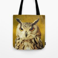 elmo Tote Bags featuring Elmo IV by Astrid Ewing